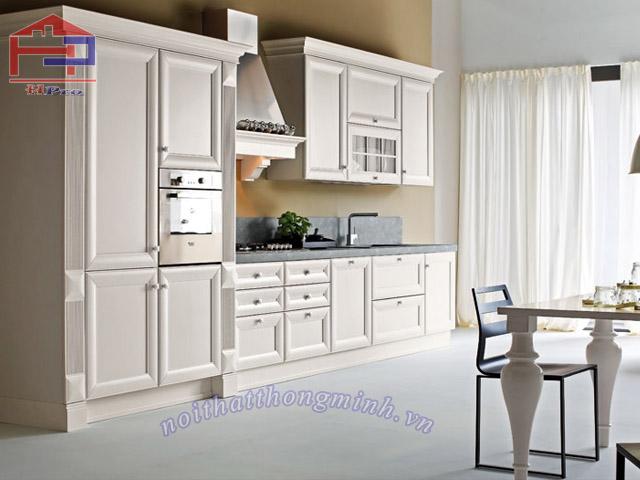 Mẫu tủ bếp màu trắng