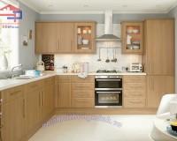 Tủ bếp gỗ sồi Mỹ Anh