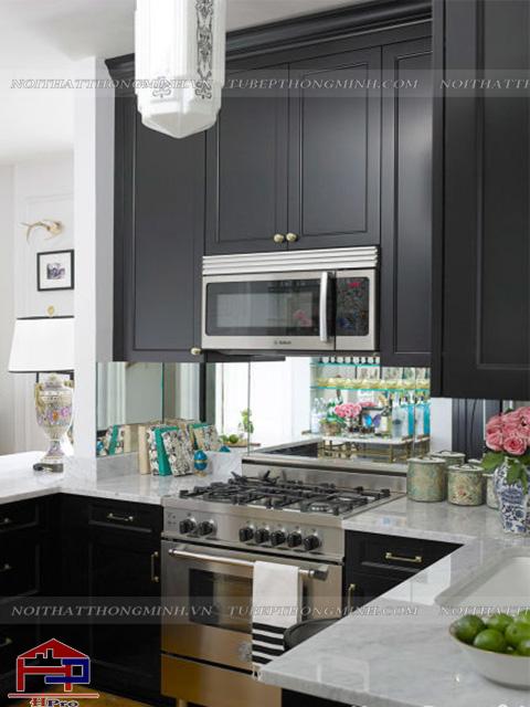 Xem mẫu nhà bếp đẹp với tone màu đen chủ đạo cực kì cá tính