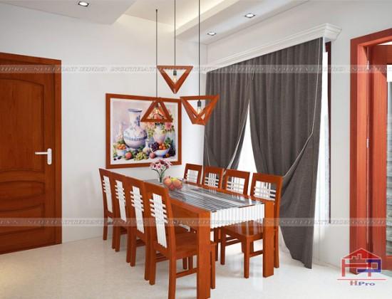 Mẫu bàn ăn phòng bếp đẹp bằng gỗ xoan đào Hoàng Anh kết hợp sơn trắng tạo nên điểm nhấn cho căn phòng bếp
