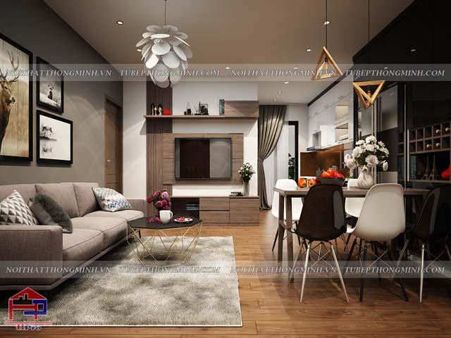 Bàn ăn phòng bếp đẹp bằng chất liệu gỗ công nghiệp giá rẻ kết hợp ghế decor là sự lựa chọn hoàn hảo cho phòng bếp hiện đại