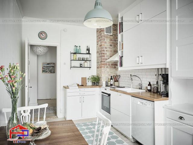 Mẫu tủ bếp chi phòng bếp nhỏ đẹp tinh tế