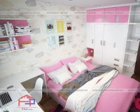 30 mẫu thiết kế phòng ngủ nhỏ cho bé gái đẹp lung linh